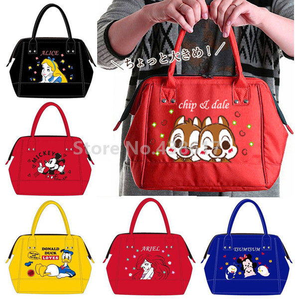d66ba64dc0 Large Capacity Alice Little Mermaid Mickey Tsum Chip Dale Insulated Lunch  Tote Bag for Women Girls Lunch Box Thermal Cooler Bag-in Lunch Bags from  Luggage ...