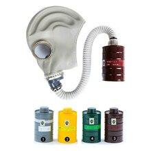 Промышленные Анфас Respiratator Противогаз Бак Вирус Химических Дыхания Маска Краска Пыли, Фильтр Органических Паров Бак Фильтр маска