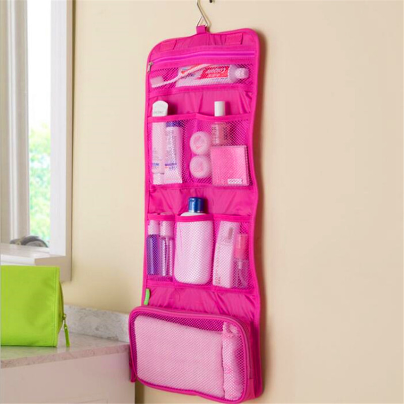 Organizer Toiletry-Bags Cosmetic-Case Make-Up-Bag Hanging Foldable Travel Women Bathroom