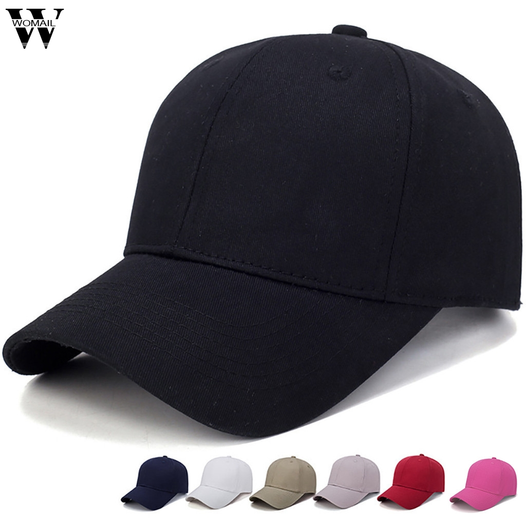 Womail Mesh Hats Snapback Cap Baseball-Cap Adjustable Sport Fashion Summer Women Solid