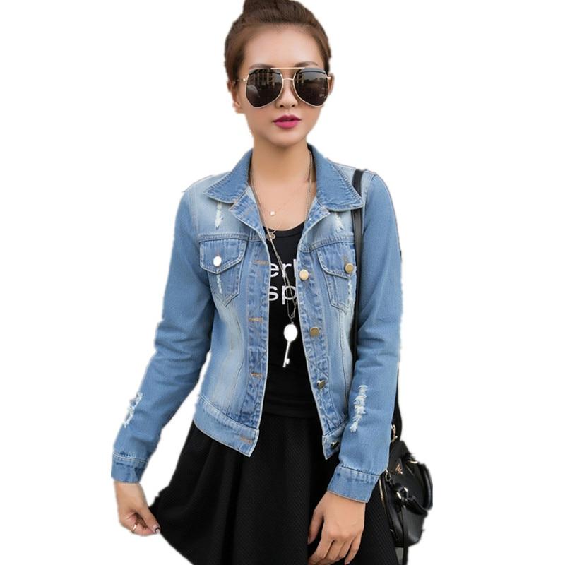 Popular Jeans Jacket Womens-Buy Cheap Jeans Jacket Womens lots ...