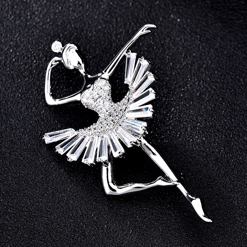 2pcs/lot Ballet girll bodice pin silver collar safety pins for craft brooches DIY for wedding suit tie bags clothing decoration