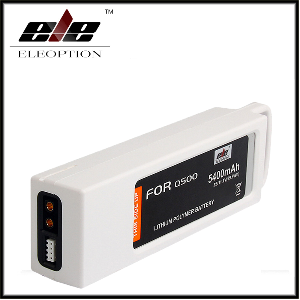 Eleoption 11.1 Volt Battery For Yuneec Q500 Series RC Drone 11.1V Lipo 3S / 3-Cell 5400mAh 2pcs high quality 4s full 5400mah 14 8v 79 92wh replacement lipo battery for yuneec typhoon h drone rc quadcopter