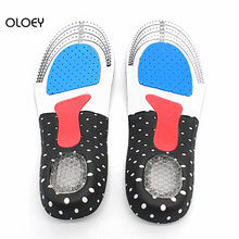 1 Pair Sports Shoe-pad Unisex Insoles Orthotic Arch Support Shoe Pad 1Pair Free Size Gel Insoles Insert Cushion for Men Women(China)