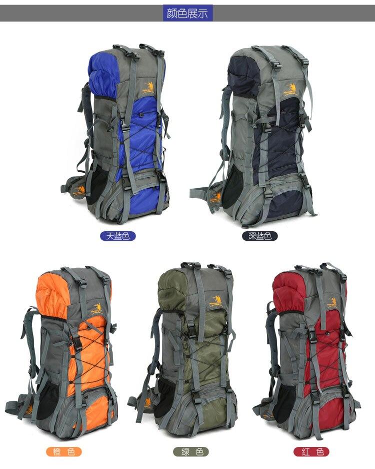 Men & Women 50L Waterproof Outdoor Sport Bags Climbing mountaineering Cycling Backpack travel Camping Hiking Cushion Rucksack