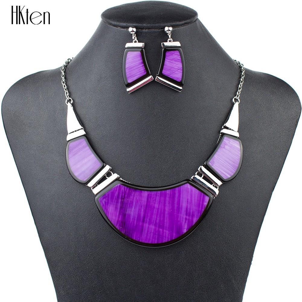 ms1504210 мода ювелирные наборы высокого качества уникальный дизайн фиолетовый ожерелье Kors партии высокое качество подарки