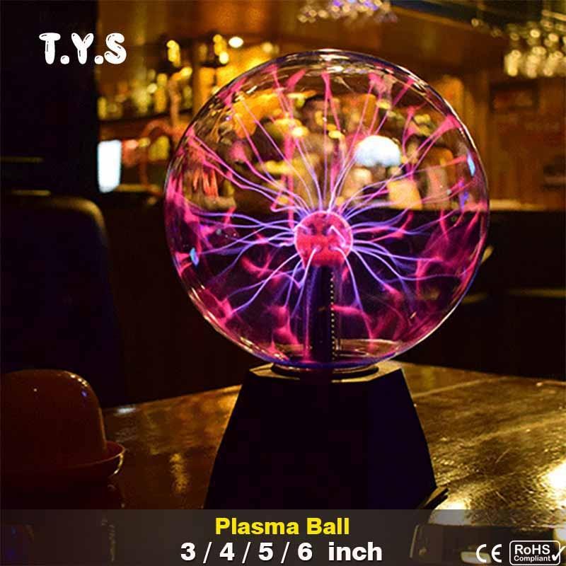 NOUVEAU Nouveauté Magic Crystal Ball Plasma lampe à lave Creative light D'obtention Du Diplôme D'anniversaire De Noël Enfants Room Decor Cadeau Boîte D'éclairage