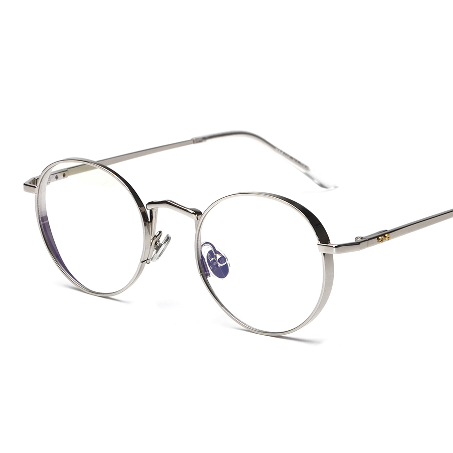 99a40b5161d Metal Oval Optical Eyewear Vintage Retro Plain Women Men Computer Reading Glasses  Myopia Eyeglasses Frame Brand Design oculos