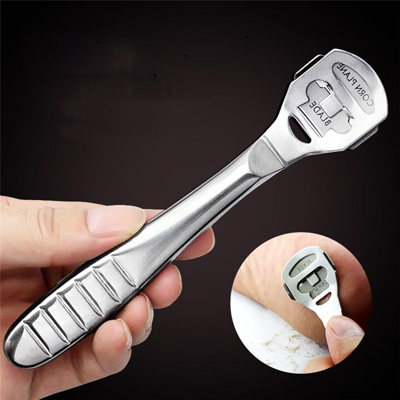 Stainless Steel Pedicure Machine Dead Hard Skin Cutter Razor With 10 Blades Tool