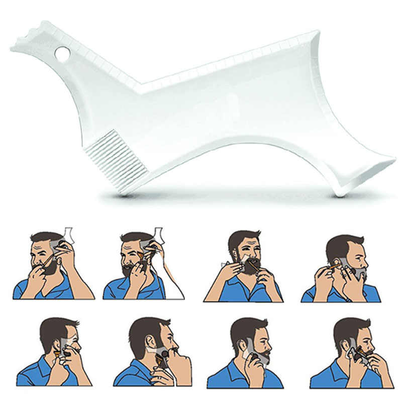 Новое поступление мужские бороды формирующий стиль формирующий гребешок прозрачные мужские бороды расчески красота инструмент для волос борода отделка Шаблоны