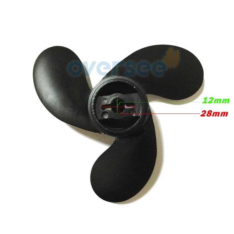 OVERSEE 309-64106-0 hélice de aluminio 7,4x5,7 para motores fuera de borda Tohatsu 2.5HP 3.5HP 309-64107 -0 Mariner 3,3