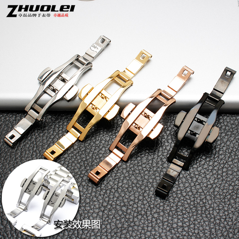 Stainless steel strap buckle for AR ceramic watch buckle fit L2 L4 L6 strap buckle butterfly clasp 6*23mm 6*21mm 6*27mm
