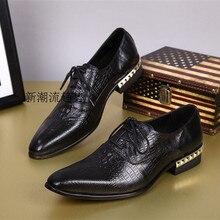 Choudory 2017 Office Men Dress Shoes Italian Wedding Man Casual Shoes Oxfords Suit Shoes Man Flats Leather Shoes Zapatos Hombre