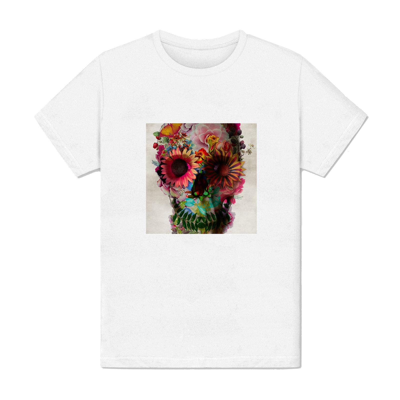 T-shirt Homme - Crane mort tete fleur art peinture swag paris fashion mode ...