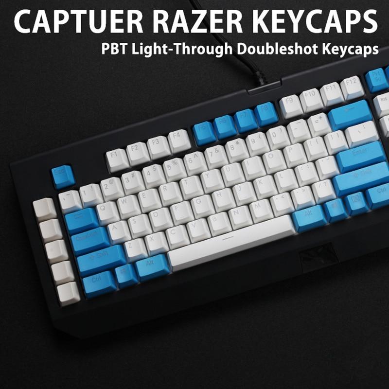 104/87 key PBT Double shot Translucidus Backlit Keycap For Razer BlackWidow Ultimate BlackWidow X Mechanical gaming Keyboard