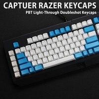 Keycap para razer blackwidow x teclado de jogo  teclado mecânico translucidus  key pbt  retroiluminado para razer blackwidow x  104/87