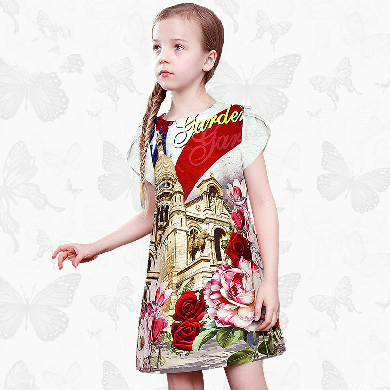 Toddler Girls Dresses Children Clothing 2017 Brand Princess Dress for Girls Clothes Fish Print Kids Beading Dress 1 19 toddler girls dresses children clothing 2017 brand princess dress for girls clothes fish print kids beading dress fanaideng 50