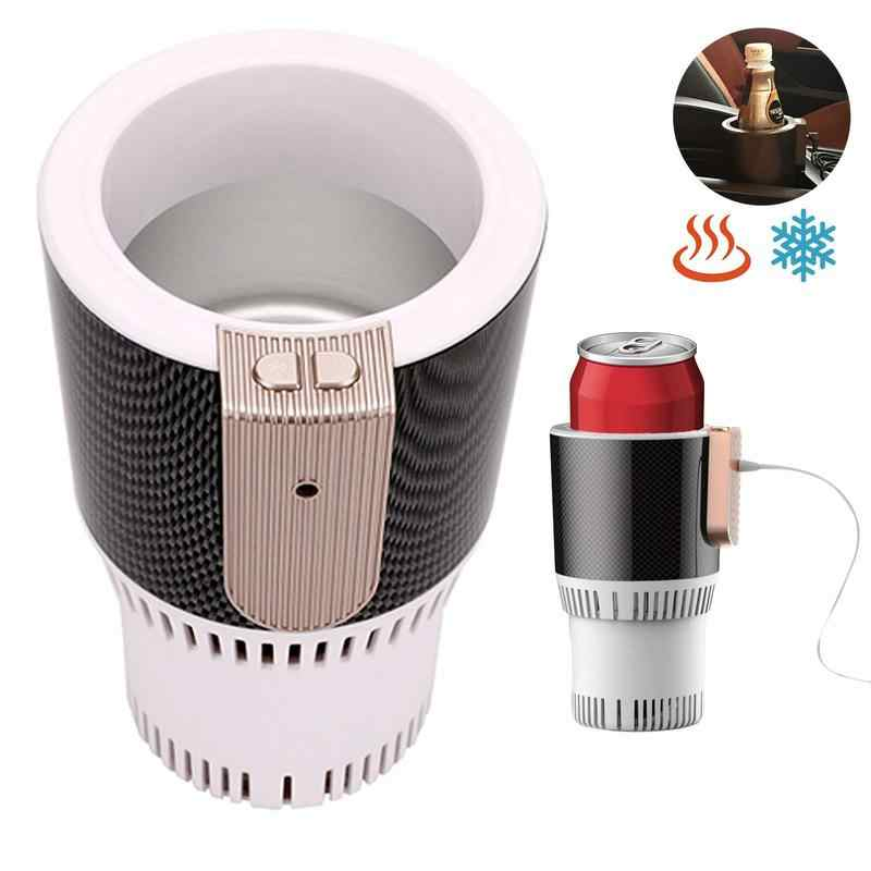 2-In-1 Auto Hot Cold Holder Car Coffee Warmer Cooler Cup Heating Smart Control Electric Mug Tumbler Holder Van US Plug Adapter