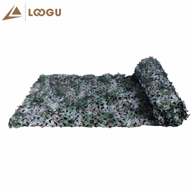 LOOGU E 2M*1.5M Car Tent Woodland Camouflage Net Mesh Hunting Camo Without Edge Binding And Mesh Net Blinds For Sunshade Camping