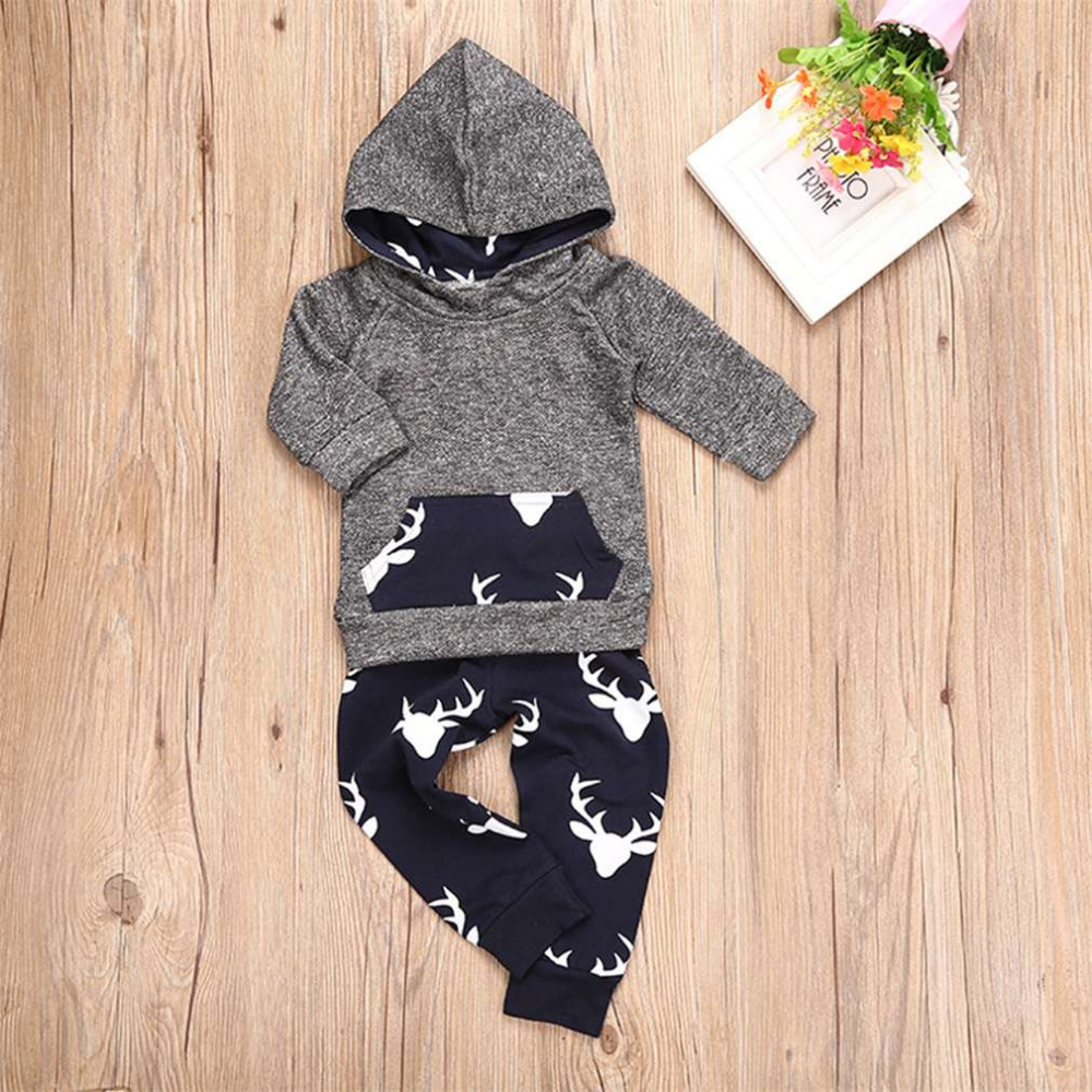 New Fashion Kids Clothes Long Sleeve Hooded Coat With Pant Baby Children Striped Sports Suit Casual Boys Casual Clothing Set europe hot sale baby girls long sleeve velvet plaid top pant suit fashion childrens casual clothes princess clothing 16d1224