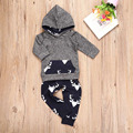 New Fashion Kids Clothes Long Sleeve Hooded Coat With Pant Baby Children Striped Sports Suit Casual Boys Casual Clothing Set