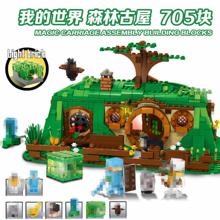 Versão Light do meu mundo Minecraft legos fantasia blocos de construção Compatíveis com Legoingly 79003 Modelo Crianças Brinquedos Para Crianças