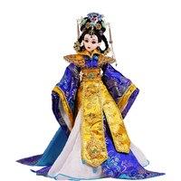 34 см БЖД 1/6 куклы ручной работы китайской династии Мин императрица 14 мяч Соединенных костюм игрушка кукла девушки игрушки День рождения Рож