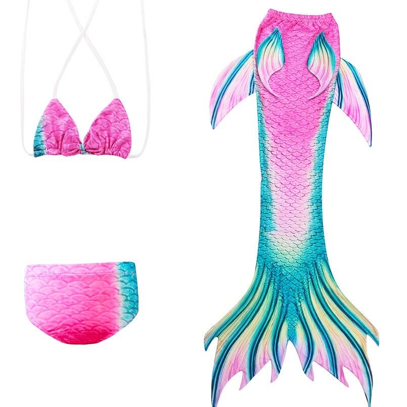 girls mermaid tail swimwear 3-1