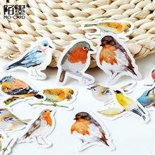 Autocollants de mignons motifs d'oiseaux pour planificateur de scrapbooking, 45 pièces/paquet, fournitures scolaires, pense-bête, journal,