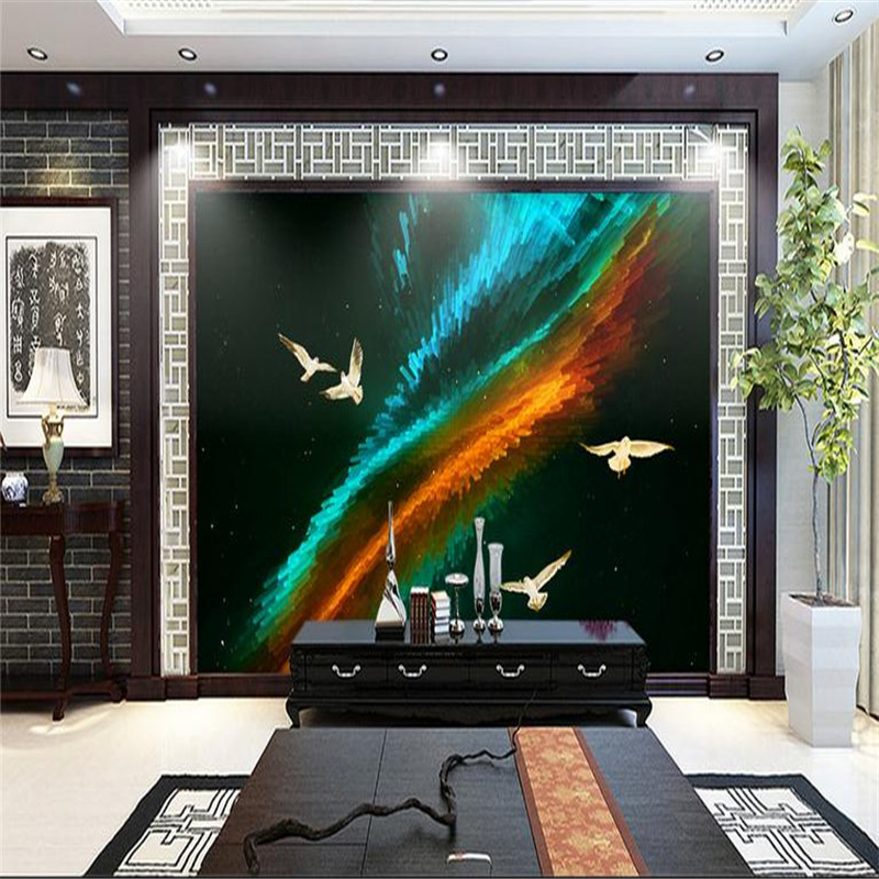 3d HD modern custom photo wallpaper abstract home background wall mural creative starry sky wallpaper for living room bedroom large photo wallpaper bridge over sea blue sky 3d room modern wall paper for walls 3d livingroom mural rolls papel de parede