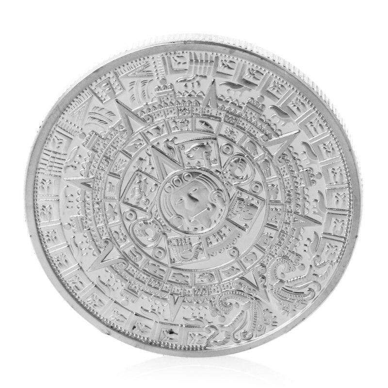 New Maya commemorative coins Gold Plated Mayan Calendar Mexico Souvenir Commemorative Coin Collection Token Home Art Gift