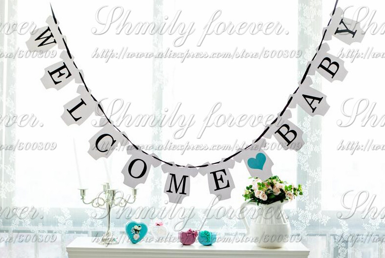 Custom Welcome Little One Boy Banner Ft Baby Home With Girl Decorations