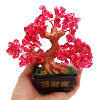 Feng Shui Crystal Money Tree Ornaments Lucky tree Bonsai Style Wealth Luck  Feng Shui Bring Wealth Home Money Tree ornaments