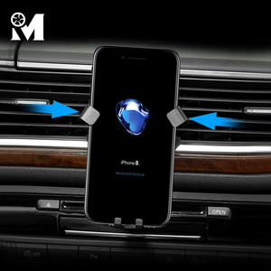 Image 4 - 자동차 전화 마운트 ABS GPS 모바일 홀더 환기 자석 셀 스탠드 아우디 A3 8V A4 B9 A5 A6 C7 Q3 Q5 인테리어 액세서리