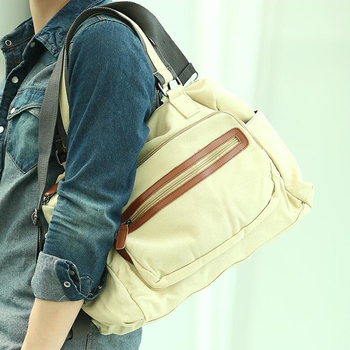 New fashion canvas bag, male casual shoulder bags, men messenger bag, high quality canvas laptop briefcase Weekend bag