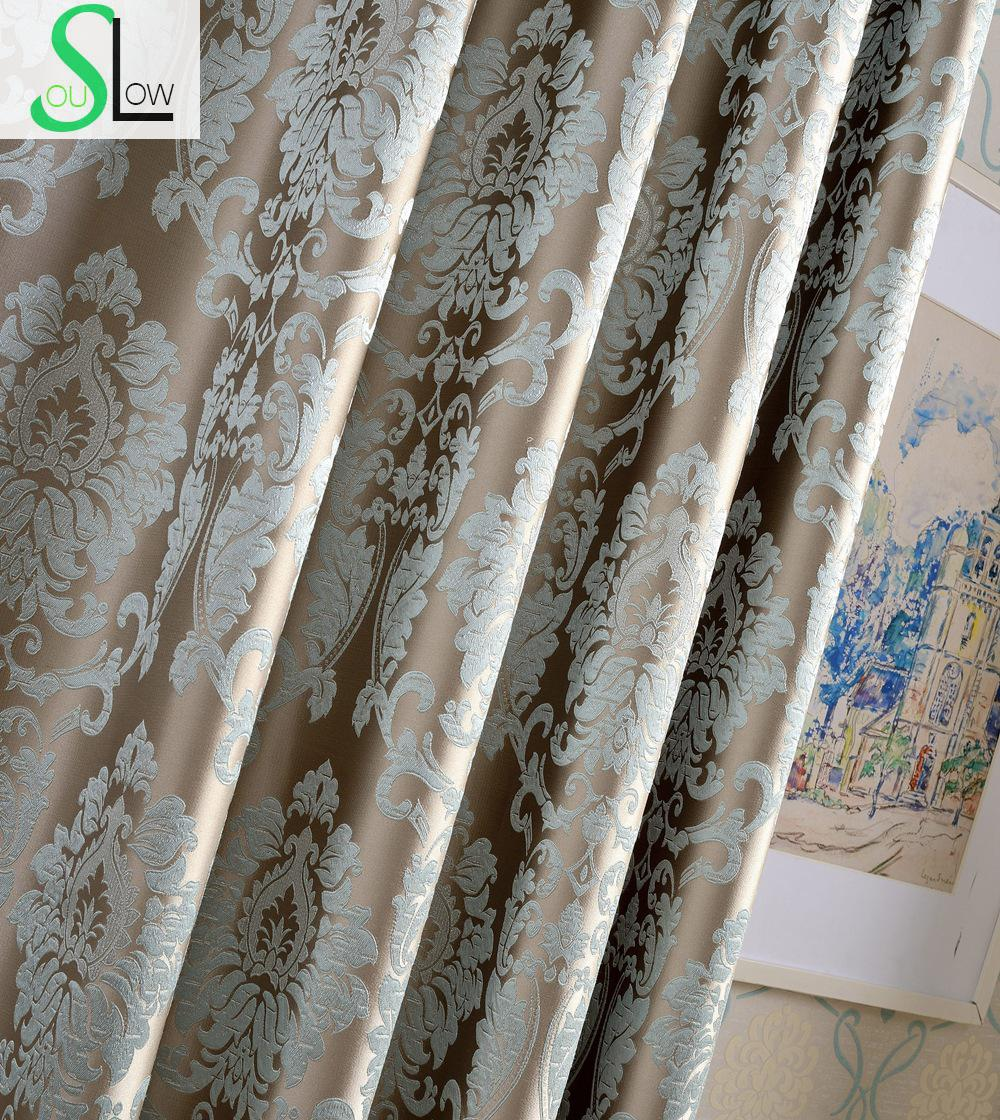 High Precision Firefly Jacquard Curtain Silver Floral
