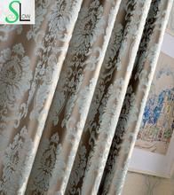 Alta precisión firefly cortinas cortinas para la sala de estar cortina cortina jacquard floral de plata niños tul dormitorio cocina