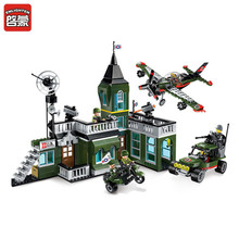 ENLIGHTEN 627pcs Military Exercises Model Building DIY Blocks Bricks for Children Boys Self-Locking Bricks ABS Assembled Toys