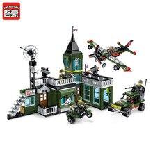ENLIGHTEN 627pcs Military Exercises Model Building DIY Blocks Bricks for Children Boys Self-Locking Bricks ABS Assembled Toys