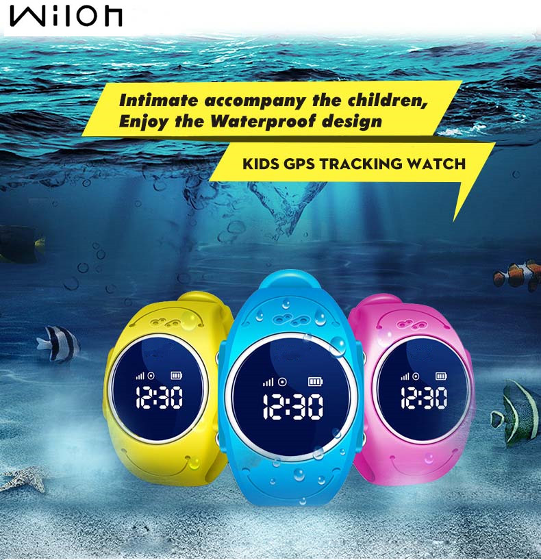 2018 GPS Tracker Reloj para niños Safe GPS Reloj impermeable Q520S reloj inteligente SOS Call Finder Locator Tracker Anti Perdió GSM