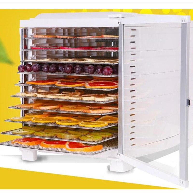 220 v multifunctionele elektrische voedsel droger huishoudelijke automatische voedsel dehydrator commerciele 10 lagen eu au