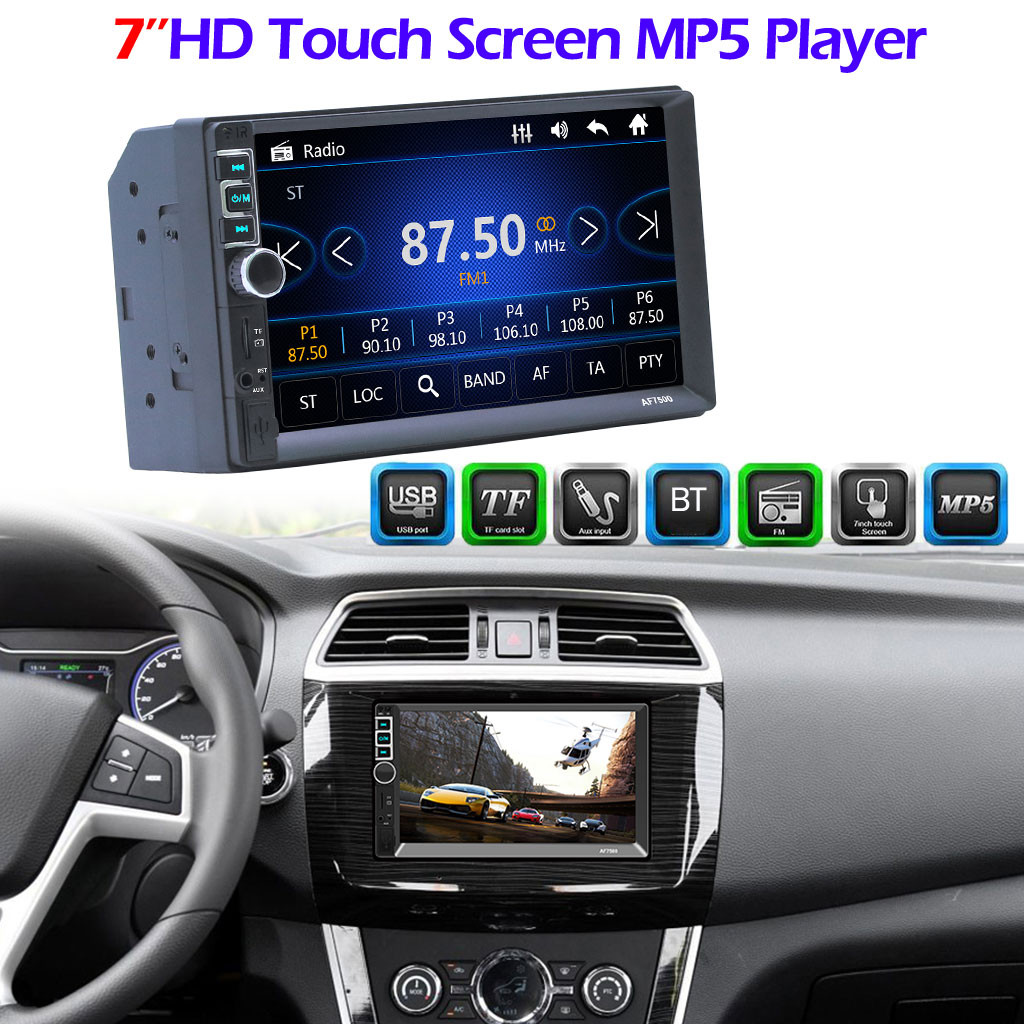 MUQGEW car MP5 playler HD Stereo 7005 7in 2Din Car MP5 Player HD Stereo FM Radio Screen MP3 AUX USB2.0 Handfree#711g30(China)