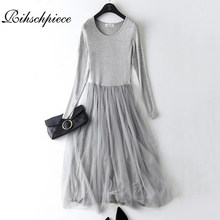 Rihschpiece Spring Maxi Dress Women Tunic Vintage Plus Size Gauze Dress  Modal Sexy Beach Mesh Casual Long Party Dresses RZF1183 40d5ea79c25c