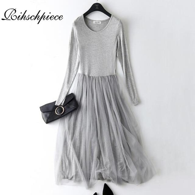 70ac9ded692 Rihschpiece Spring Maxi Dress Women Tunic Vintage Plus Size Gauze Dress  Modal Sexy Beach Mesh Casual Long Party Dresses RZF1183