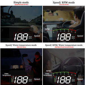 Image 3 - GEYIREN HUD araba A900 OBD2 Head Up ekran hız RPM su sıcaklık araç elektroniği hud obd2 ekran aşırı hız Head Up ekran