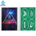 OPHIR 100x Pattern Airbrush Stencils Christmas Glitter Tattoo Temporary Tattoo Body Paint Templates for Children_STE16