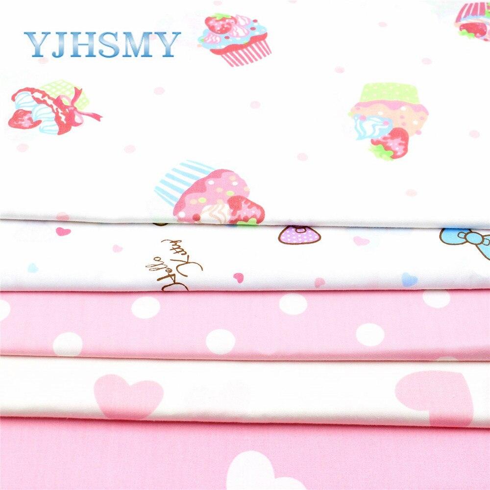 YJHSMY 173071, 50 cm * 150 cm de dibujos animados de algodón ropa vestido bordad