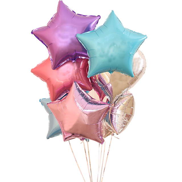 1 Piece Selling 18 Inch Star Foil Helium Balloons Baby Birthday Decorate Party Supplies Wedding Anniversary Decoration In Ballons Accessories