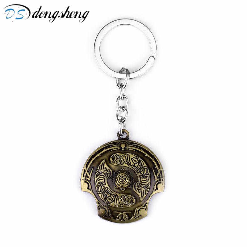 Dongsheng игра подарки Ювелирные изделия Dota 2 брелок бесземный Чемпион щит цинк ключ из металлического сплава кольца для настоящего времени чавейро-50
