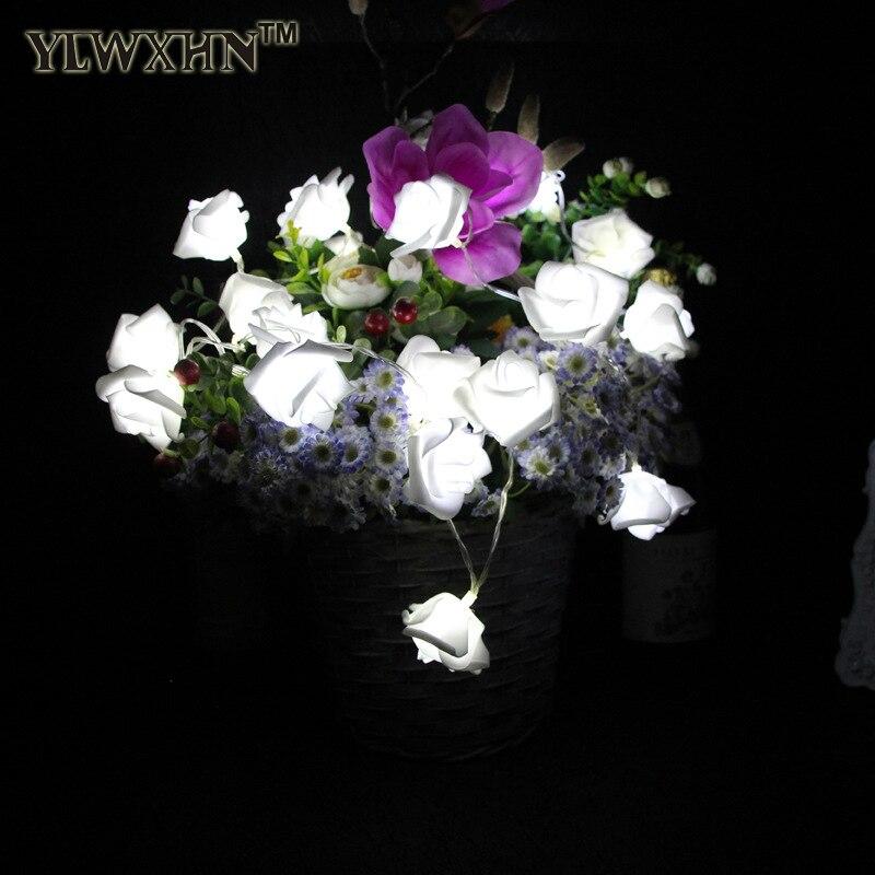 Luminarias реального Lamparas 8 расцветок Night Led Новый розы 20 Строки брак украшения сада рождественский Бордовый